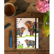 Chloe Gardner, Cow and Thistle Notebook with Elastic Closure