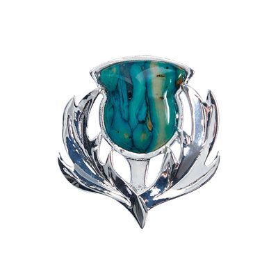 Heather Gems Brora Thistle Heathergem Brooch