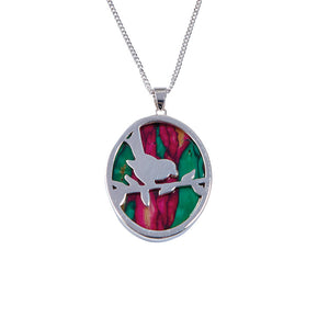Heather Gems Robin Silver Plated Pendant
