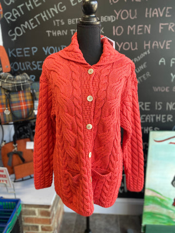 Aran Woollen Mills Button Down Sweater