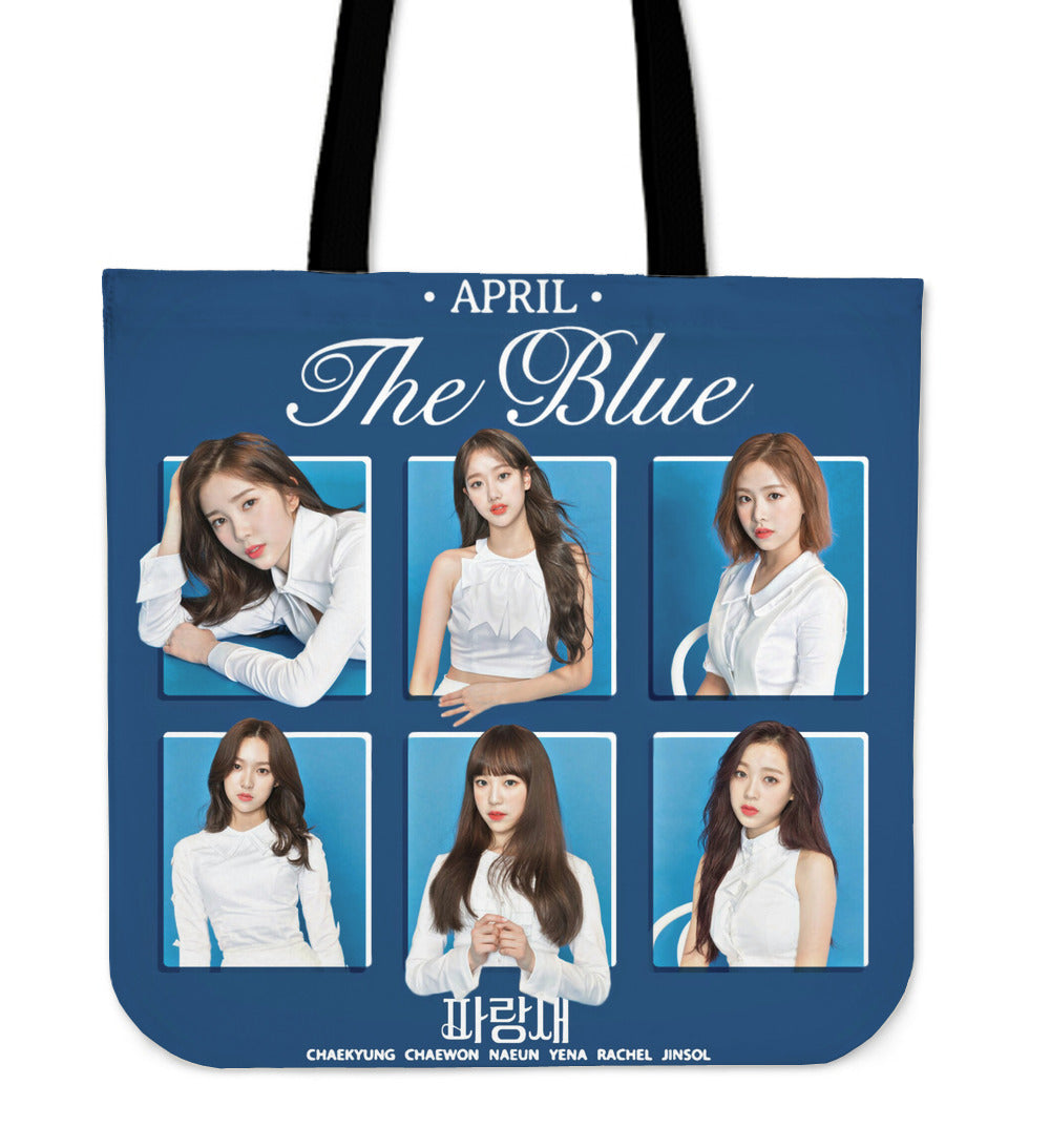 April The Blue Tote Bag