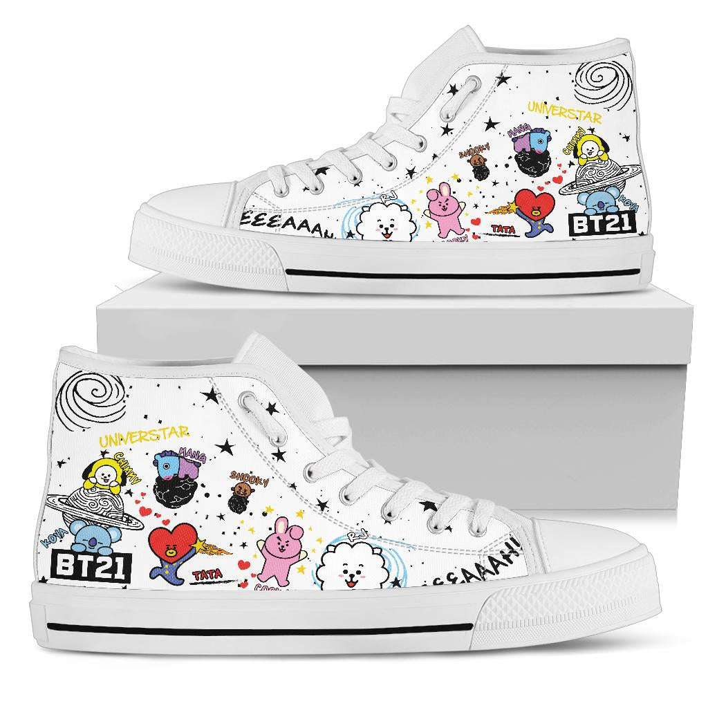 Bangtan21 Colorful High Tops