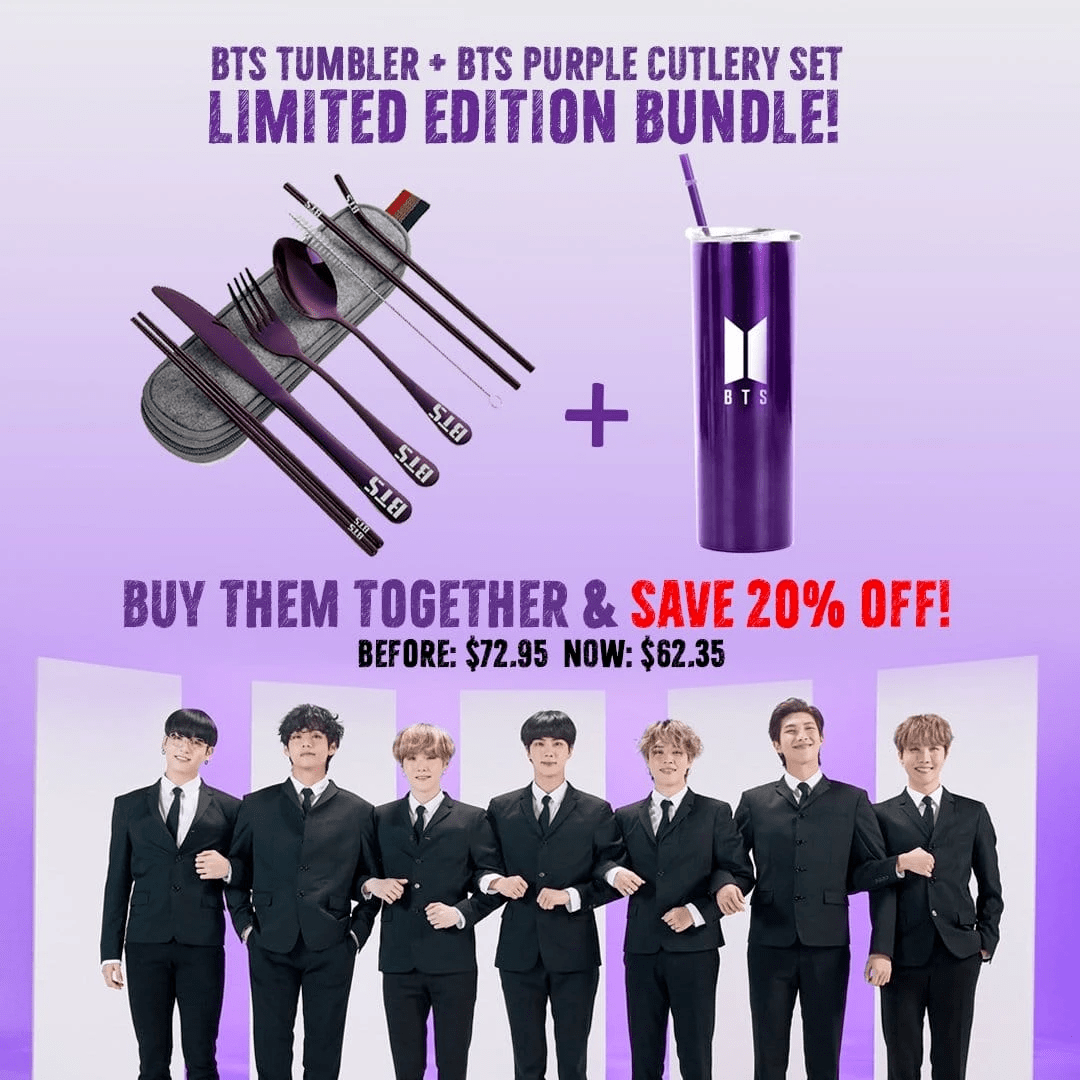 Bangtan7 Cutlery And Tumbler Set