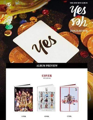 TWICE 6th Mini Album - YES Or YES CD [VER.A] - OFFICIAL