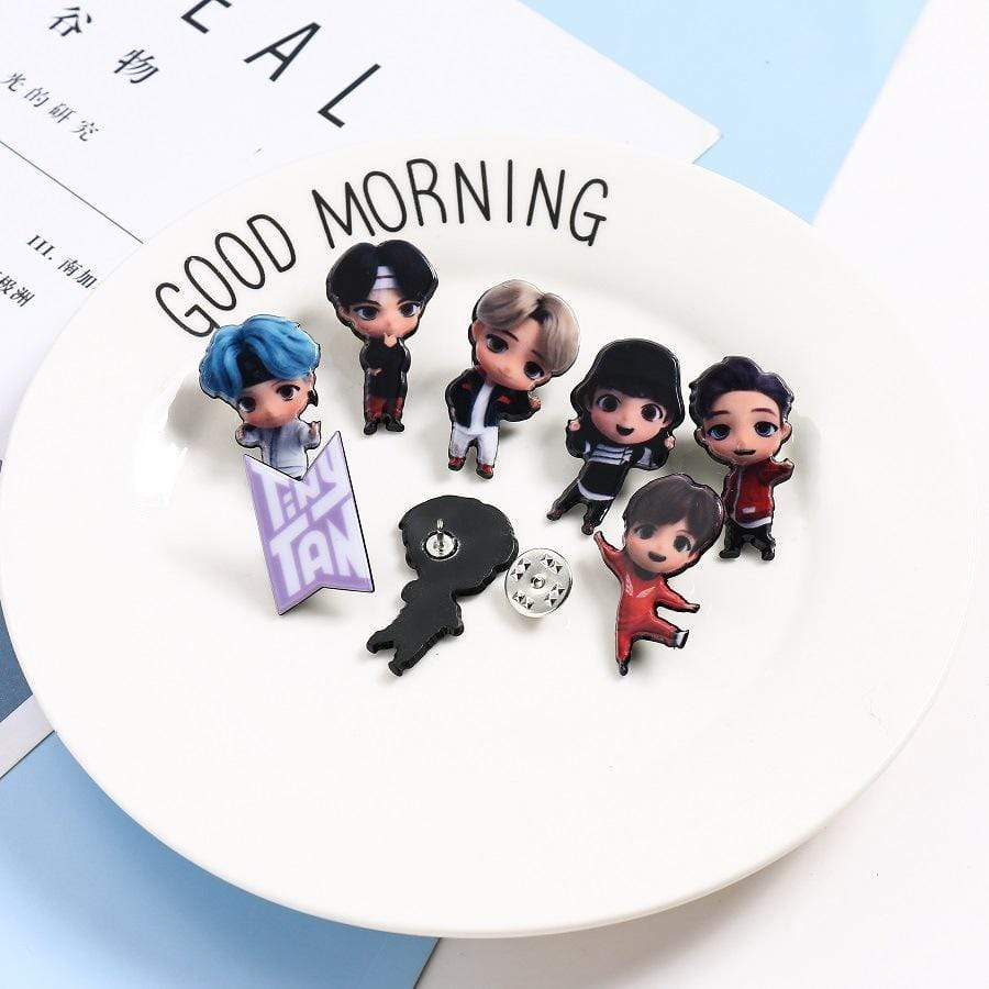 Bangtan7 Cute Chibis Brooch Pin