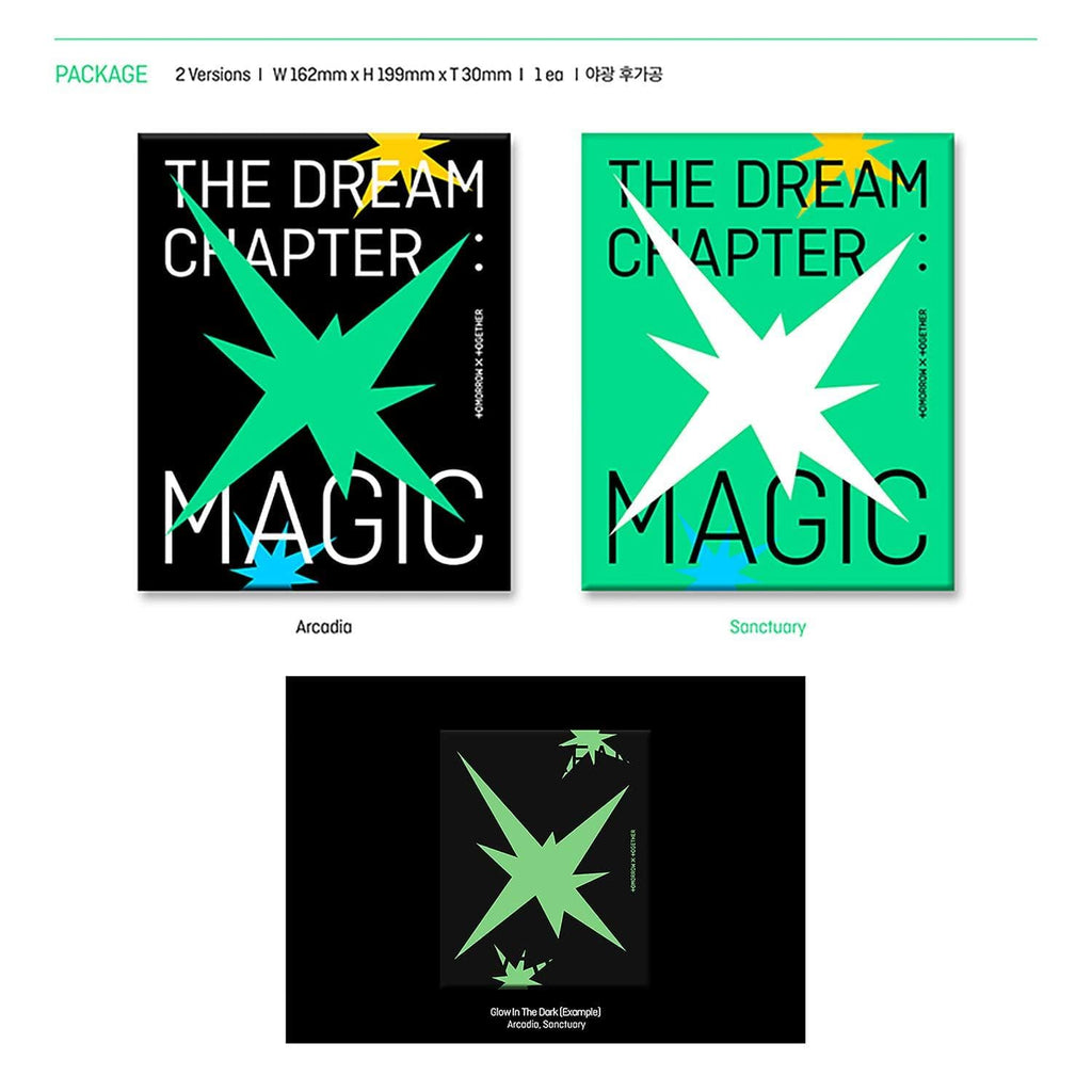 [SET] TXT (TOMORROW X TOGETHER) Album - THE DREAM CHAPTER : MAGIC 2CDs (ARCADIA Ver. + SANCTUARY Ver.) | OFFICIAL