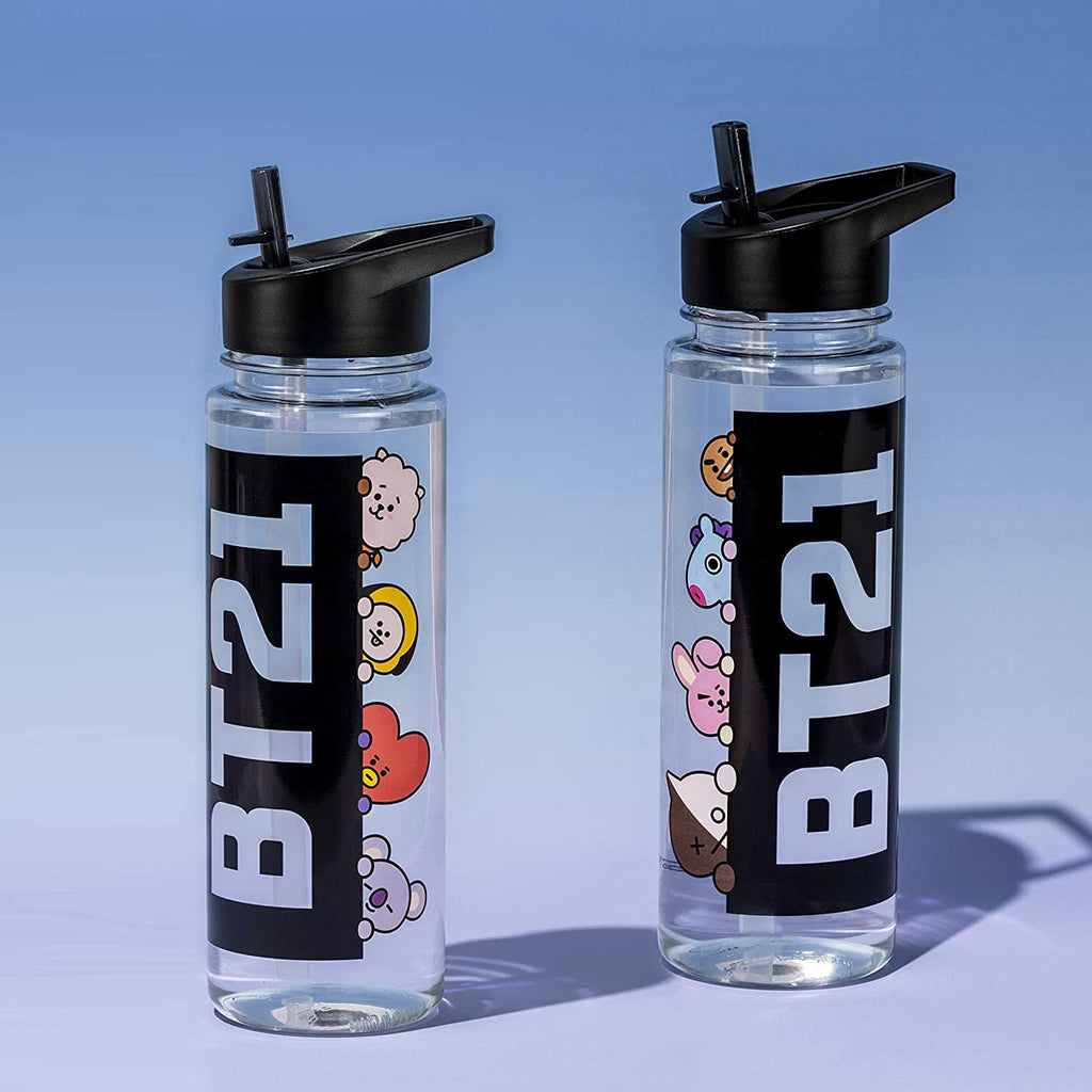 Official Bangtan21 Water Bottle with Straw