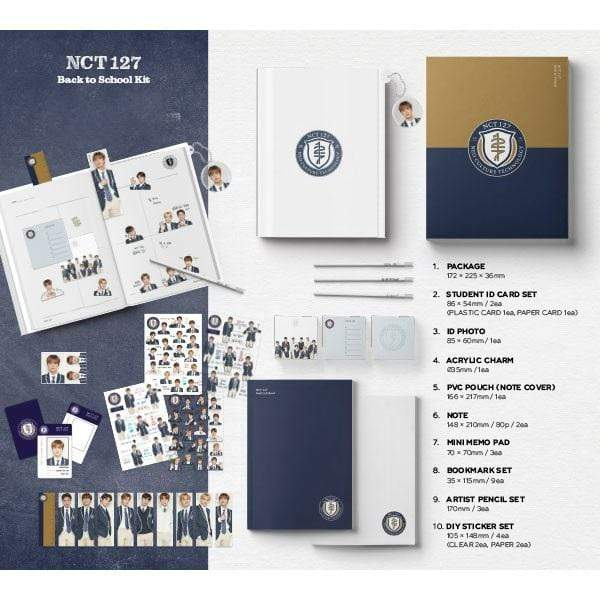 NCT 127 Back to School Kit Official