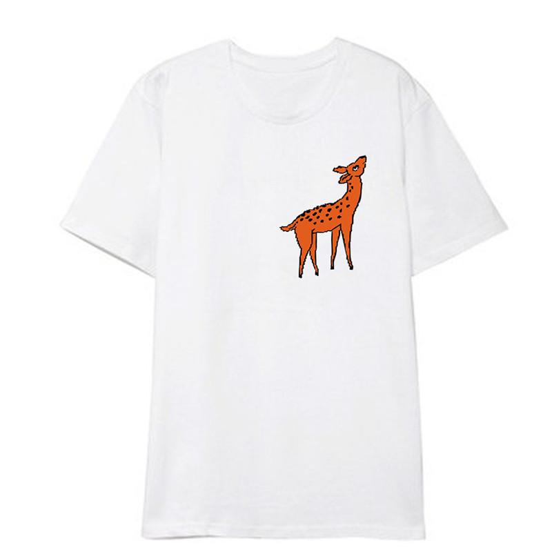 KPOP Idol T-shirt - Deer Print