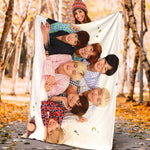 On Bed With Bangtan7 Blanket