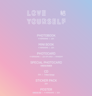 Bangtan7 - Repackage Album [LOVE YOURSELF 結 'Answer' Random Version - Official