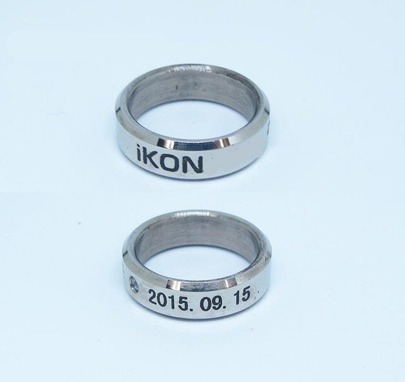 IKON Ring with Leather Loop