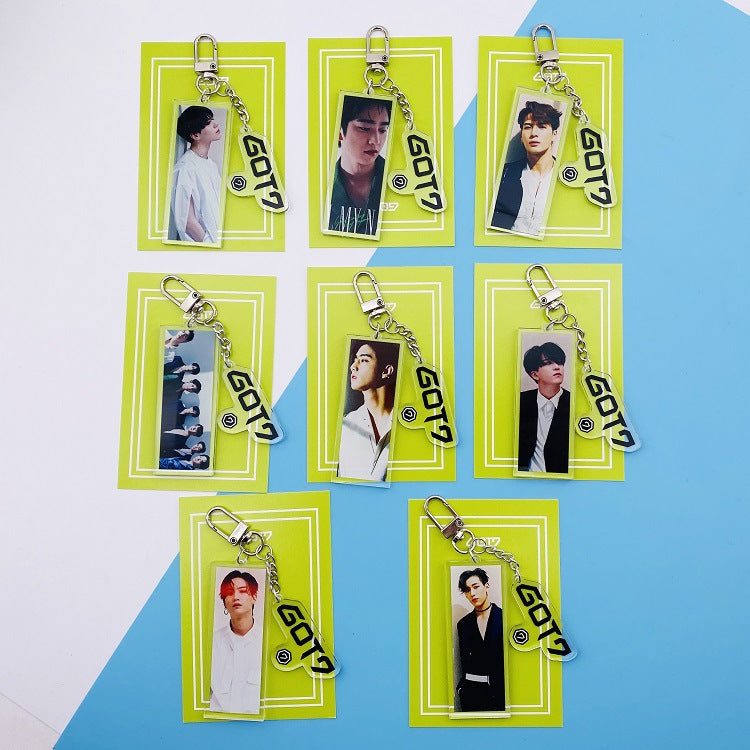 GOT7 Photo Keychain