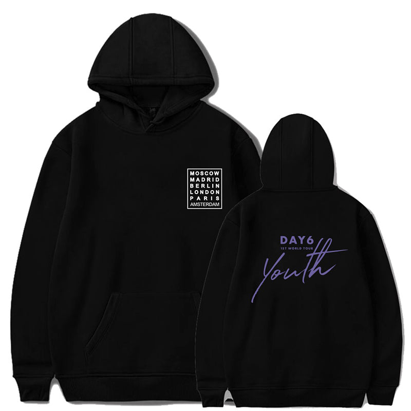 Day6 Youth in Europe World Tour Print Hoodies