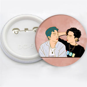 Bangtan Boys Round Metal Pin Badge