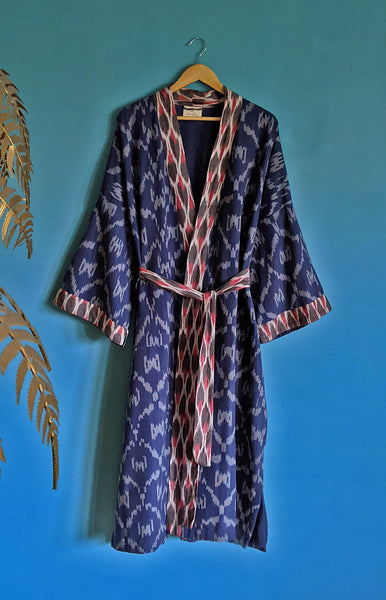 Space Invaders Organic Cotton Kimono Dressing Gown