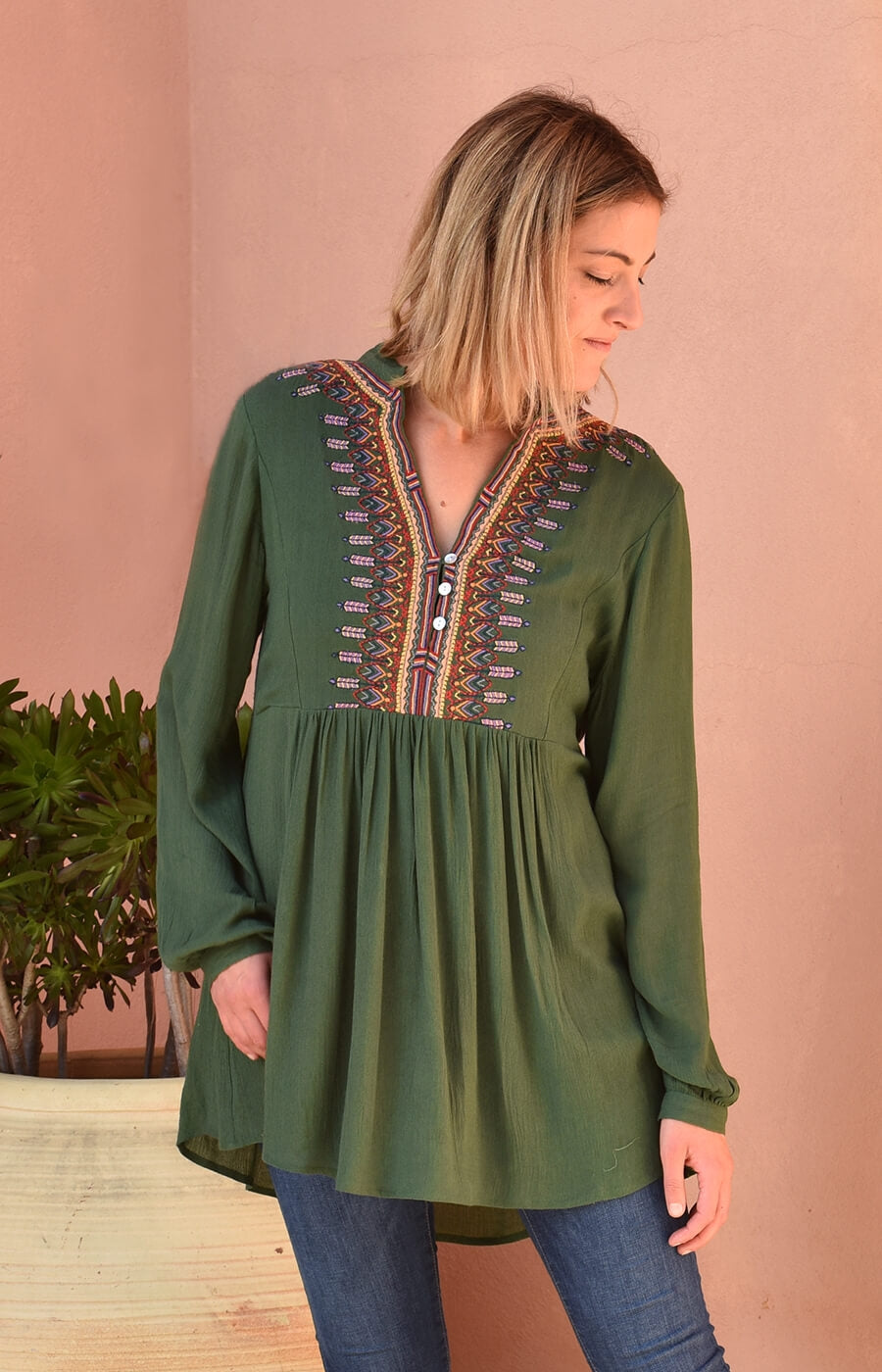 Mother Earth Embroidered Blouse