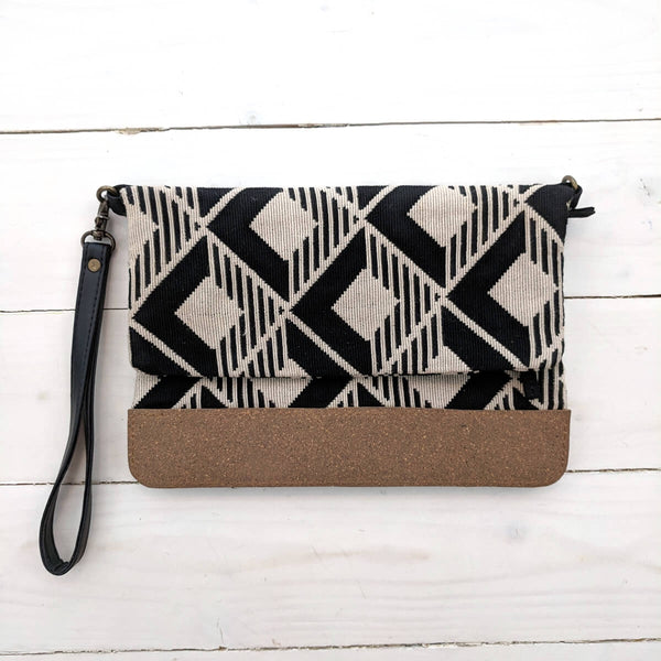 Geo Jazz Vegan Clutch Bag/Purse