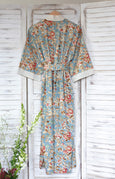 New Floral Dusk Long Kimono Dressing Gown