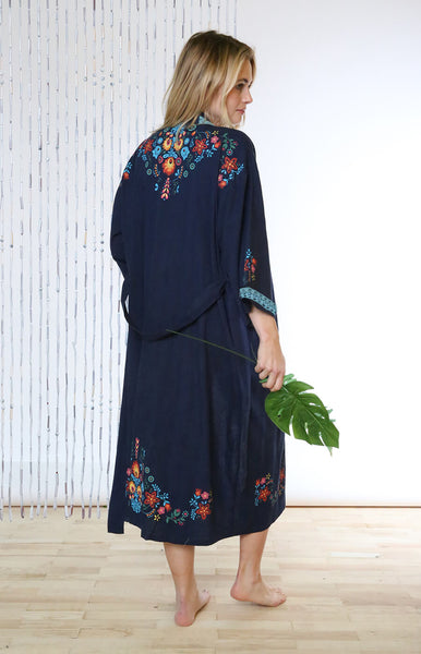 Mexico Night Organic Cotton Long Kimono