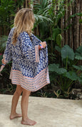 Pacific Islands Bamboo Short Kimono