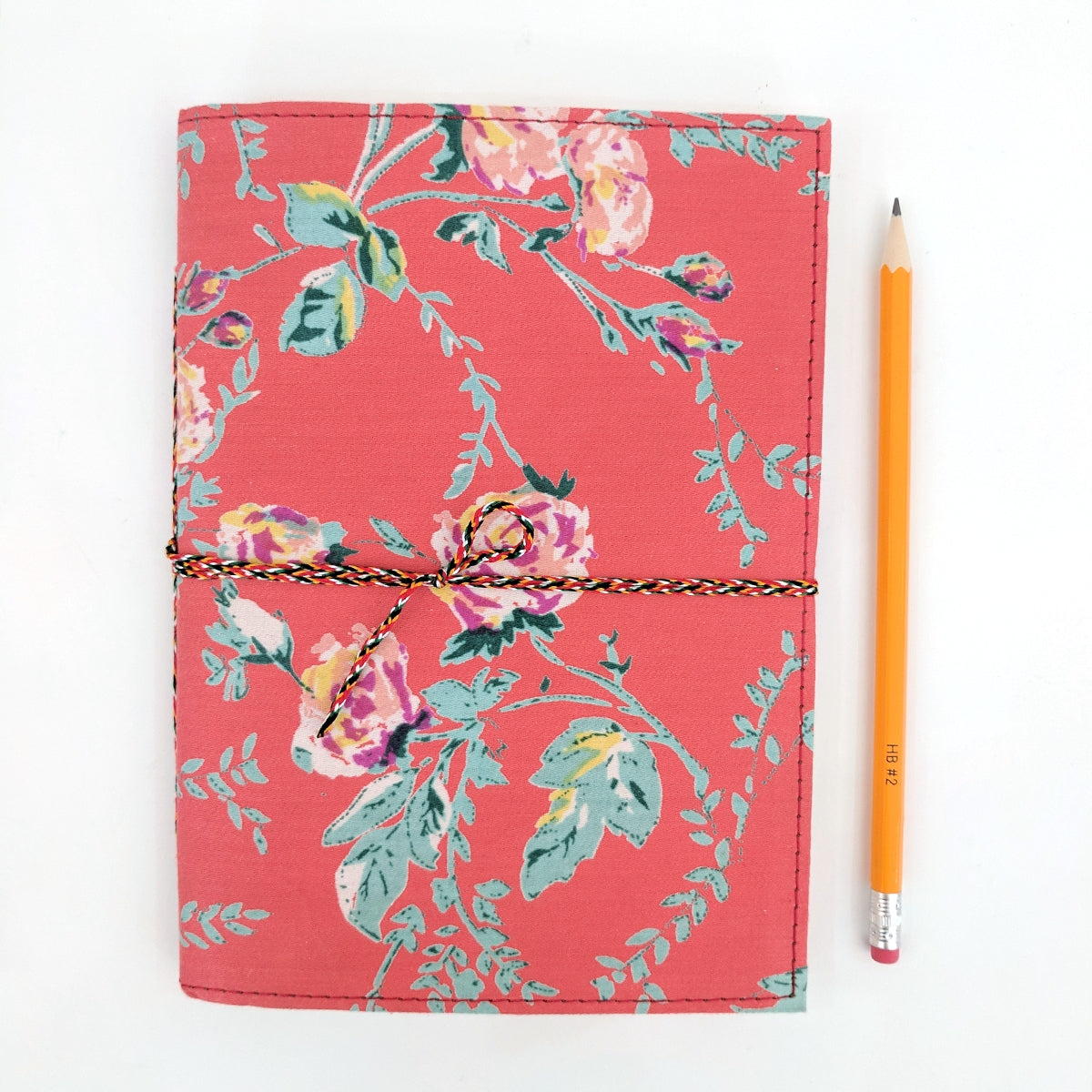 Parisian Rouge Fabric Covered A5 Notebook