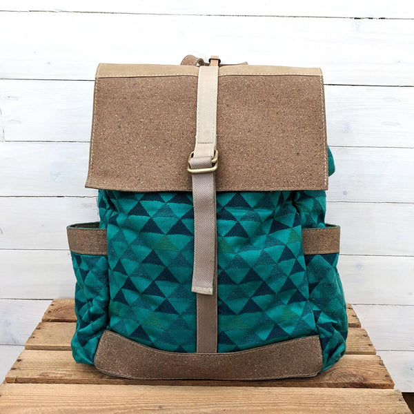 Teal Tipis Vegan Backpack