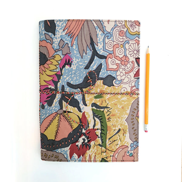 Woodstock Fabric Covered A4 Notebook