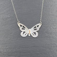 Load image into Gallery viewer, Silver Butterfly Necklace