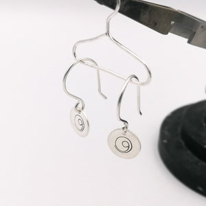 Silver Gratitude earrings