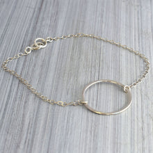 Load image into Gallery viewer, Silver karma chain bracelet