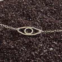 Load image into Gallery viewer, Silver evil eye chain bracelet