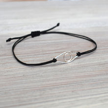 Load image into Gallery viewer, Silver evil eye bracelet