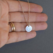 Load image into Gallery viewer, Silver Gratitude disc necklace