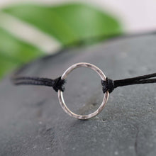 Load image into Gallery viewer, Mini Silver Black Karma Bracelet