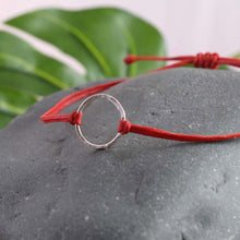 Load image into Gallery viewer, Mini Silver karma circle Bracelet