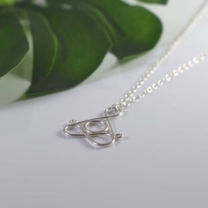 Sterling Silver Yoga Lotus pose necklace
