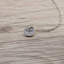 Load image into Gallery viewer, Silver compass disc necklace