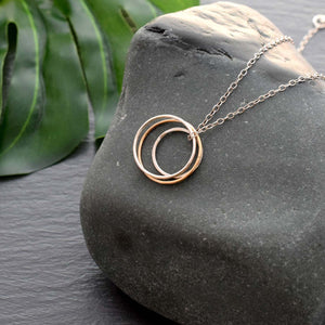 Three circle karma necklace