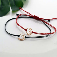 Load image into Gallery viewer, Gold Gratitude red cord bracelet