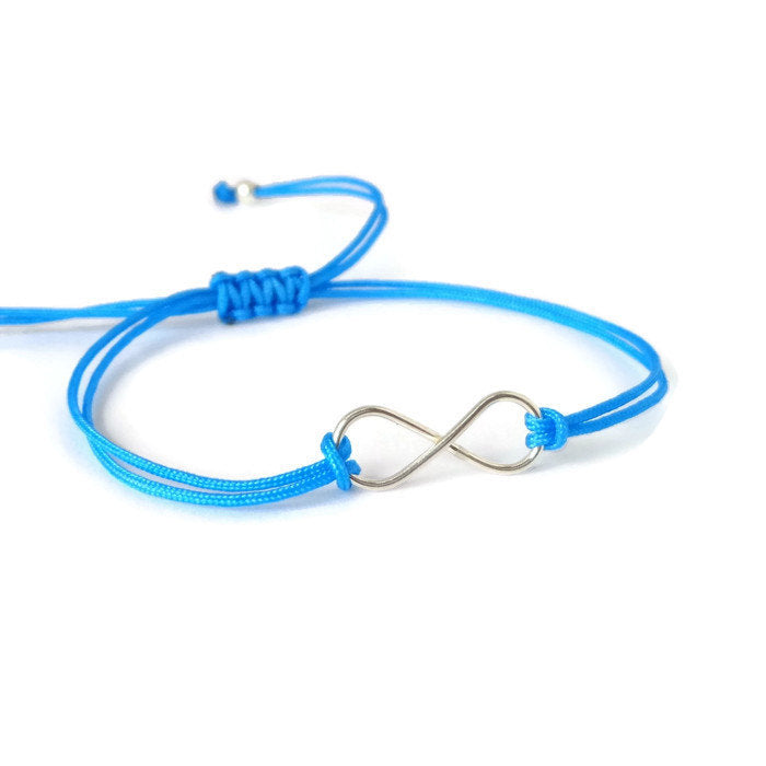 Silver Infinity turquoise bracelet