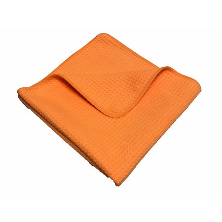 "Waffle Weave Microfiber Drying Towel - 370GSM 16""x16"""