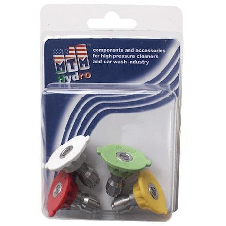 Load image into Gallery viewer, MTM Hydro 17.0156 QC Hydrojet SS 3.0 Power Washer Tips 4 Pack
