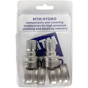 MTM Hydro Stainless Steel Garden Hose Quick Connect Garden Hose Connector Kit