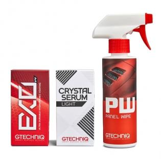 Gtechniq Panel Wipe, Crystal Serum Light and EXO