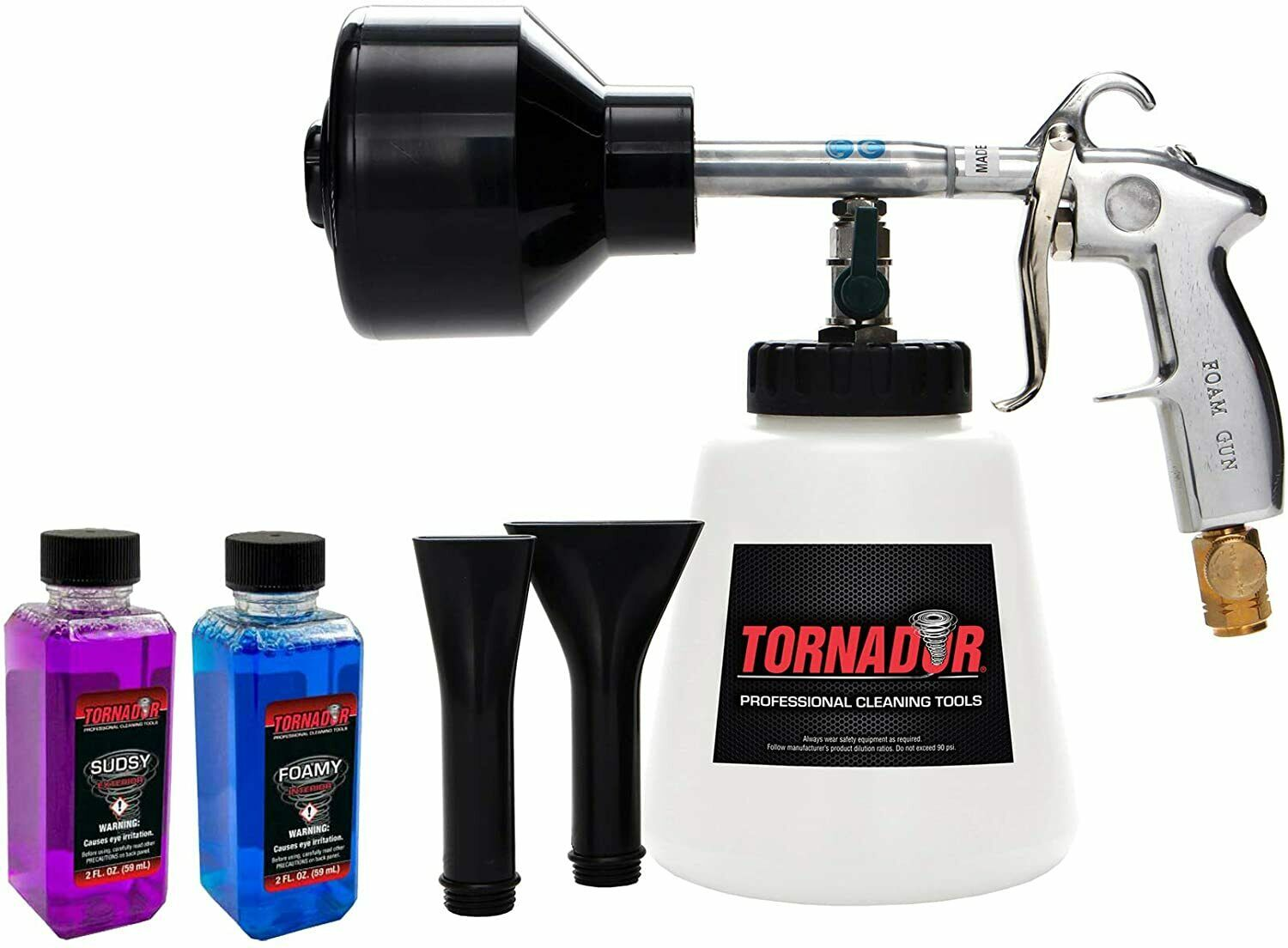 Load image into Gallery viewer, Tornador Z-011 Foam Gun Starter Kit with Foamy Interior Cleaner and Sudsy Exterior Cleaner