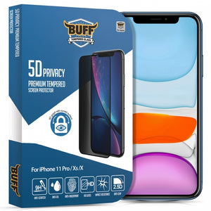 Buff iPhone 11 Pro/Xs/X 5D Privacy (Hayalet) Ekran Koruyucu
