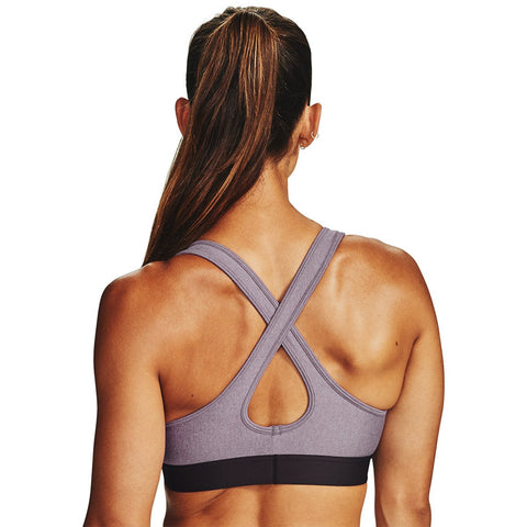 Under Armour Women's Armour® Mid Crossback Heathered Sports Bra