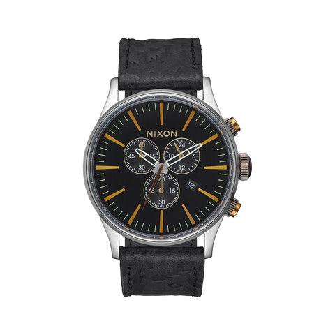 SentryChrono Leather Black/Brass