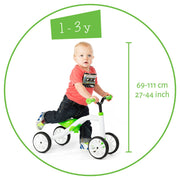 Chillafish Quadie 4-Wheeler Ride-On Bike - Lime
